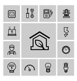black electricity icons set vector image vector image