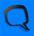 Blue comic symbol vector image vector image