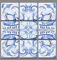 blue mural on ceramic tile with a national vector image