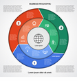 Business circular infographic vector image