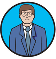 Business man cartoon vector image vector image