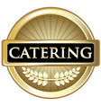 Catering Gold Label vector image vector image