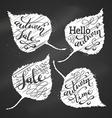 Chalk Autumn Lettering vector image
