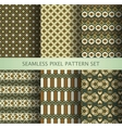Collection of pixel colorful seamless patterns