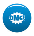 comic boom omg icon blue vector image
