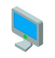 computer screen 3d icon vector image vector image