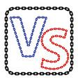concept of confrontation together standoff vector image