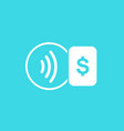 contactless payment icon vector image vector image