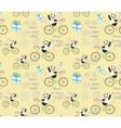cute baby Panda on bike vector image vector image