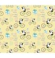 cute bapanda on bike vector image