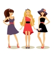 fashion spring girls vector image