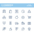 flat line icons design-e-commerce vector image vector image