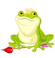 Frog Prince vector image