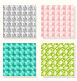 geometric set pattern vector image vector image