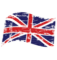 Grunge United Kingdom flag vector image