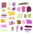 grunge watercolor ink texture set vector image