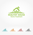 Healthy House vector image vector image