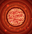 Holidays greeting card with a calligraphic vector image vector image