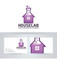 house lab logo design vector image vector image