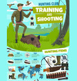 hunting sport club poster training in shooting vector image vector image