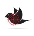 image bird target vector image