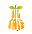 Inscription big sale in pear style vector image vector image