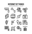 internet things icon in outline design for web vector image vector image