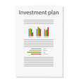 investment plan finance and management planning vector image vector image