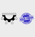 linear water gear drops icon and scratched vector image vector image