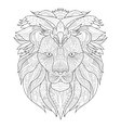 Lion Coloring for adults vector image