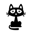 Little Black Cat Icon Cartoon Style Halloween vector image vector image