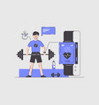man using smart watches vector image vector image
