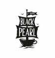 modern professional sign logo cafe black vector image vector image
