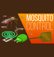 mosquito fumigation pest control disinsection vector image vector image