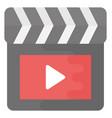 multimedia flat icon vector image