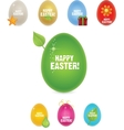 nature eco creative and elegance eggs vector image