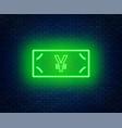 neon euro banknote signcash vector image
