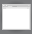 Opened browser window template vector image vector image