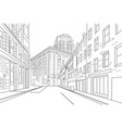 outline sketch an town city vector image vector image