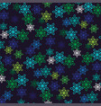 overlapping snowflake pattern vector image vector image