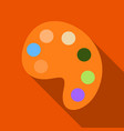palette with paints isolated on background vector image