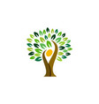 people tree logo symbol icon design vector image