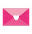 pink envelope message letter romance vector image vector image