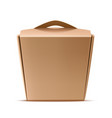 realistic chinese wok noodles paper box vector image vector image