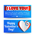 romantic lovely horizontal banners vector image vector image