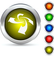 Rotation button vector image vector image