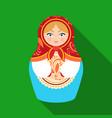 russian matrioshka icon in flat style isolated on