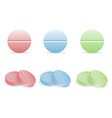 set of colorful pills in round forms vector image vector image