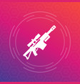 sniper rifle icon pictograph vector image vector image