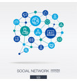 society integrated thin line icons in speech vector image vector image